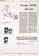 DOCUMENT PHILATELIQUE OFFICIEL N°11-92 - GEORGES AURIC 1899-1983 (N°2752 YVERT ET TELLIER) - DESSIRIER DEL - 1992 - Lettres & Documents