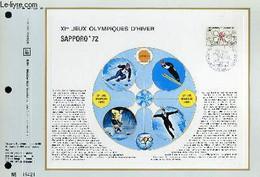 FEUILLET ARTISTIQUE PHILATELIQUE - CEF - N° 189 - 11° JEUX OLYMPIQUES D'HIVER - SAPPORO'72 - COLLECTIF - 1972 - Lettres & Documents