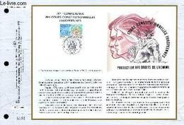 FEUILLET ARTISTIQUE PHILATELIQUE - CEF - N° 1128 - 9° CONFERENCE DES COURS CONSTITUTIONNELLES EUROPEENNES - COLLECTIF - - Lettres & Documents