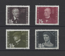 LIECHTENSTEIN.  YT  PA N° 30/33  Neuf **  1948 - Air Post