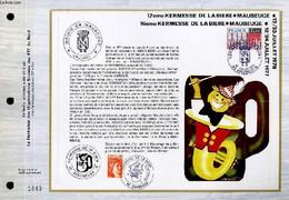 FEUILLET ARTISTIQUE PHILATELIQUE - CEF - 17° KERMESSE DE LA BIERE, MAUBEUGE 12/23 JUILLET 1978 , 16° KERMESSE DE LA BIER - Lettres & Documents