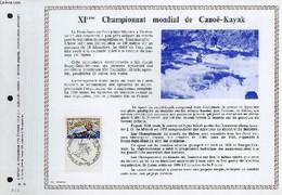 FEUILLET ARTISTIQUE PHILATELIQUE - PAC - 69 - 22 - 11° CHAMPIONNAT MONDIAL DE CANOE-KAYAK - COLLECTIF - 1969 - Lettres & Documents