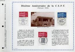 FEUILLET ARTISTIQUE PHILATELIQUE - PAC - 69 - 11 - DIXIEME ANNIVERSAIRE DE LA C. E. P. T. ( EUROPA 1969) - COLLECTIF - 1 - Lettres & Documents