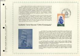 """FEUILLET ARTISTIQUE PHILATELIQUE - PAC - 72 - 14 - GOELETTE TERRE-NEUVAS """"COTE D'EMERAUDE"""" - COLLECTIF - 1972 - Lettres & Documents"""