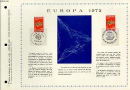 FEUILLET ARTISTIQUE PHILATELIQUE - PAC - 72 - 11 - EUROPA - COLLECTIF - 1972 - Lettres & Documents