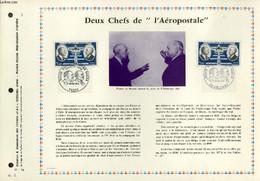 """FEUILLET ARTISTIQUE PHILATELIQUE - PAC - 71 - 14 - DEUX CHEFS DE """"L'AEROPOSTALE"""" - COLLECTIF - 1971 - Lettres & Documents"""