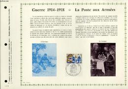 FEUILLET ARTISTIQUE PHILATELIQUE - PAC - 71 - 11 - GUERRE 1914 - 1918 - LA POSTE AUX ARMEES - COLLECTIF - 1971 - Lettres & Documents