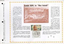 FEUILLET ARTISTIQUE PHILATELIQUE - PAC - 70 - 30 - LOUIS XIV, LE ROI SOLEIL - COLLECTIF - 1970 - Lettres & Documents
