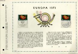 FEUILLET ARTISTIQUE PHILATELIQUE - PAC - 73 - 11 - EUROPA 1973 - COLLECTIF - 1973 - Lettres & Documents