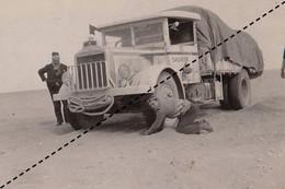 1932 Photo De L'expédition Transsaharienne Sahara Camion Saurer Algérie Alger Au Mali Gao Vers Reggan - Coches