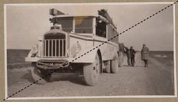 1932 Photo De L'expédition Transsaharienne Sahara Algérie Alger Mali Gao Camion Saurer Col De Ben Chicao - Cars