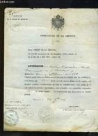 Autorisation Délivrée à Louis Carrère, Demeurant Cours Saint-Jean à Bordeaux, Sur Les Jeux De Cartes Dits De Commerce Da - Non Classificati