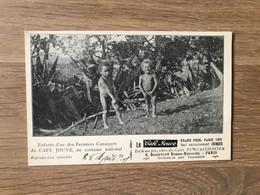 CPA Pub. Café Jouve – Calédonië (ca 1905) – Cannibalisme : Enfants Canaque - French Polynesia