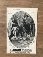 CPA Pub. Café Jouve – Calédonië (ca 1905) – Cannibalisme : Grand Chef Canaque - French Polynesia