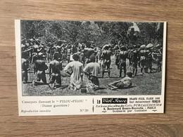 CPA Pub. Café Jouve – Calédonië (ca 1905) – Cannibalisme : Danse Guerrière - French Polynesia