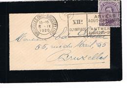 JEUX OLYMPIQUES 1920 - MARQUE POSTALE - BRUXELLES - 6 - IX - JOUR DE COMPETITION - EQUITATION - Zomer 1920: Antwerpen