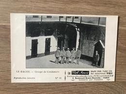 """CPA Pub. Café Jouve – Calédonië (ca 1905) – Cannibalisme : """"Le Bagne"""" - French Polynesia"""