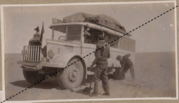 1932 Photo De L'expédition Transsaharienne Sahara Algérie Alger Mali Gao Camion Saurer à Timimoun - Coches