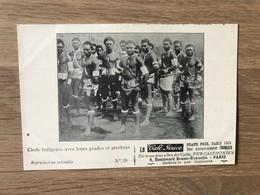 CPA Pub. Café Jouve – Calédonië (ca 1905) – Cannibalisme : Chefs Indigènes - French Polynesia