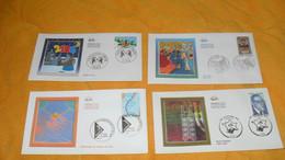 LOT 4 ENVELOPPES DIVERS FDC DE 2005.../ MEILLEURS VOEUX, DEPISTAGE DU CANCER DU SEIN, AVICENNE, JACOB KAPLAN...CACHETS + - 2000-2009