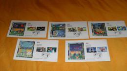 LOT 5 ENVELOPPES FDC DE 2005.../ HEROS DES JEUX VIDEO...CACHETS PARIS + TIMBRES - 2000-2009