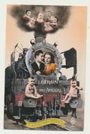 Carte Fantaisie - Le Train Des Amours - Locomotive - Couple - Bébé - Sin Clasificación