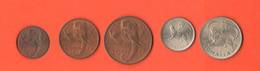 Somalia  1+ 5 + 10 Centesimi + 50 Cents + 1 Somalo 1950 Italian Amministration - Somalia