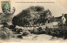 HERAULT - 34 - Vue De St-Gervais-s./Mare - Pont Et Allées Notre-Dame De Lorette - Other Municipalities