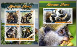 SAO TOME 2021 MNH Mona Monkey Mona Affen Singes Mona M/S+S/S - OFFICIAL ISSUE - DHQ2113 - Mono