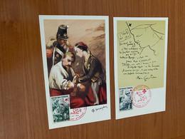 Lot De 2 Cartes Postales - Croix Rouge - Red Cross