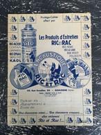 PROTEGE CAHIER - Produits D'entretien Ric Et Rac  Cirage - Rue Escudier BOULOGNE - Unclassified