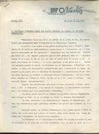 INFO ACTUALITES MADAGASCAR 20 MAI 1972 : LE PRESIDENT TSIRANANA DONNE LES PLEINS POUVOIRS AU GENERAL DE DIVISION RAMANAT - Non Classificati