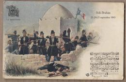 CPA ALGERIE - SIDI-BRAHIM - TB DESSIN De La Bataille 1945 + Partition Et Chanson LA SABRETACHE MILITAIRE Guerre - Other Cities