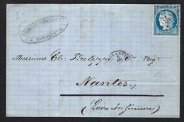 FRANCE 1875: LAC De Romorantin Avec Le Y&T 60C - 1871-1875 Ceres