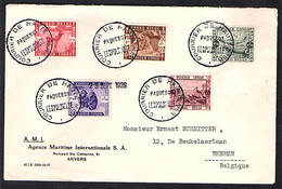 Belgisch-Kongo, Satzbrief Mit Mi.-Nr. 185-189 - 1923-44: Storia Postale