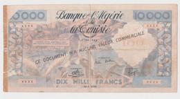 Guerre D'algerie - Propagande - Tract Illustré -billet 10000 - Djoundi Rallie-toi! - Autres
