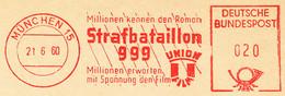 Freistempel 10.006 Film Strafbataillon 999 - Affrancature Meccaniche Rosse (EMA)