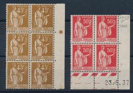 DX-857: FRANCE: Lot  Avec N°281** Bloc D 6-283** CD Du 23/5/37 - Ungebraucht