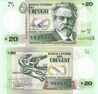 URUGUAY      20 Pesos Urug.    P-New       2020       UNC - Uruguay