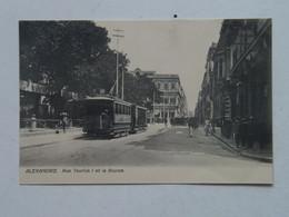 Egypt 97 Alexandrie Rue Tewfick I Et La Bourse Tram Tramway Streetcar LC 77 - Alejandría