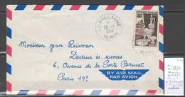 Reunion - LE GUILLAUME - Cachet Pointillé  - 1956 - Storia Postale