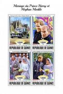 Guinea 2018, Royal Wedding Harry & Megan, Car, 4val In BF - Autos