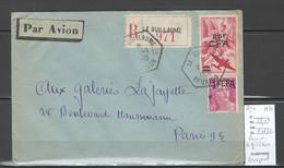 Reunion - Lettre Recommandée LE GUILLAUME - Cachet  Hexagonal - Storia Postale