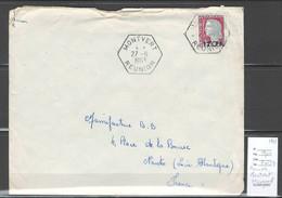 Reunion - Lettre MONTVERT  - Cachet  Hexagonal - 1963 - Storia Postale