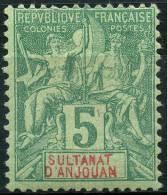 Anjouan (1892) N 4 * (charniere) - Unused Stamps