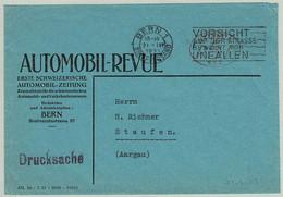 Schweiz / Helvetia 1931, Brief Oval-Freistempel Bern - Staufen, Caution On The Road Prevents Accidents - Incidenti E Sicurezza Stradale