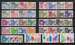 Préoblitérés 1980/1990, N°166/212, Toutes Les Séries Complètes, Neufs ** TB - 1964-1988