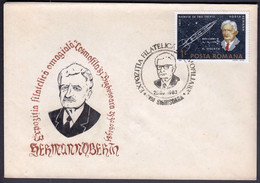 Romania Sighisoara 1983 /  Herman Oberth / Cosmofila `83 / Astrophilately Philatelic Exhibition / Space - Exposiciones Filatélicas