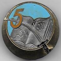 5e Régiment De  Tirailleurs Algériens   - Insigne émaillé Drago Béranger Déposé - Army