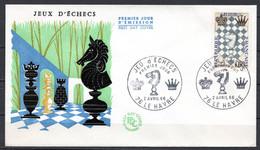 FDC FRANCE 1966 - N° 1480 - Festival International D'échecs, Au Havre - 1960-1969